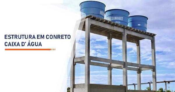 Estrutura de Concreto para Caixa d Água  Santos