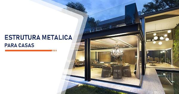 Estrutura metálica para casas Santos
