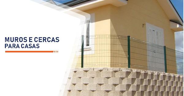 Construção de Muros e Cercas para Casas Santos