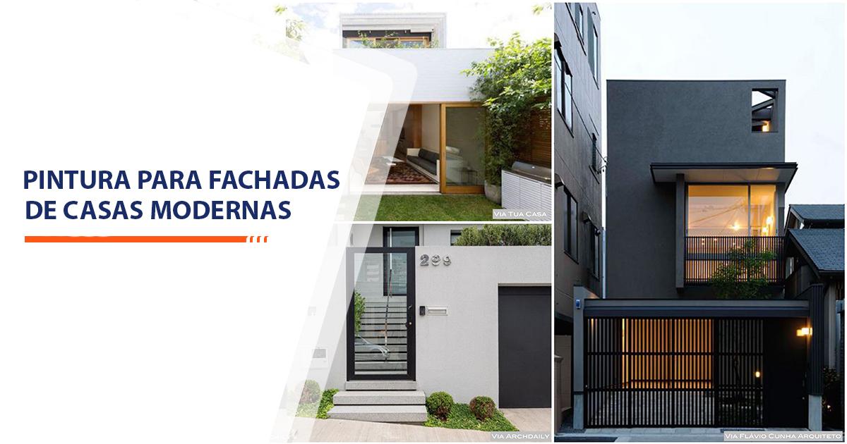 Pinturas para Fachadas de Casas Modernas Santos