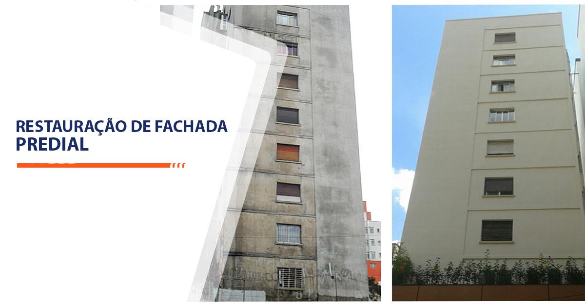 Restauração de Fachada Predial Santos